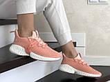 Модные женские кроссовки Adidas,текстиль,розовые, фото 3