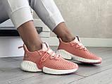 Модные женские кроссовки Adidas,текстиль,розовые, фото 4