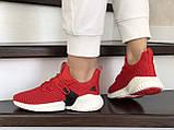Модные женские кроссовки Adidas,текстиль,красные, фото 4