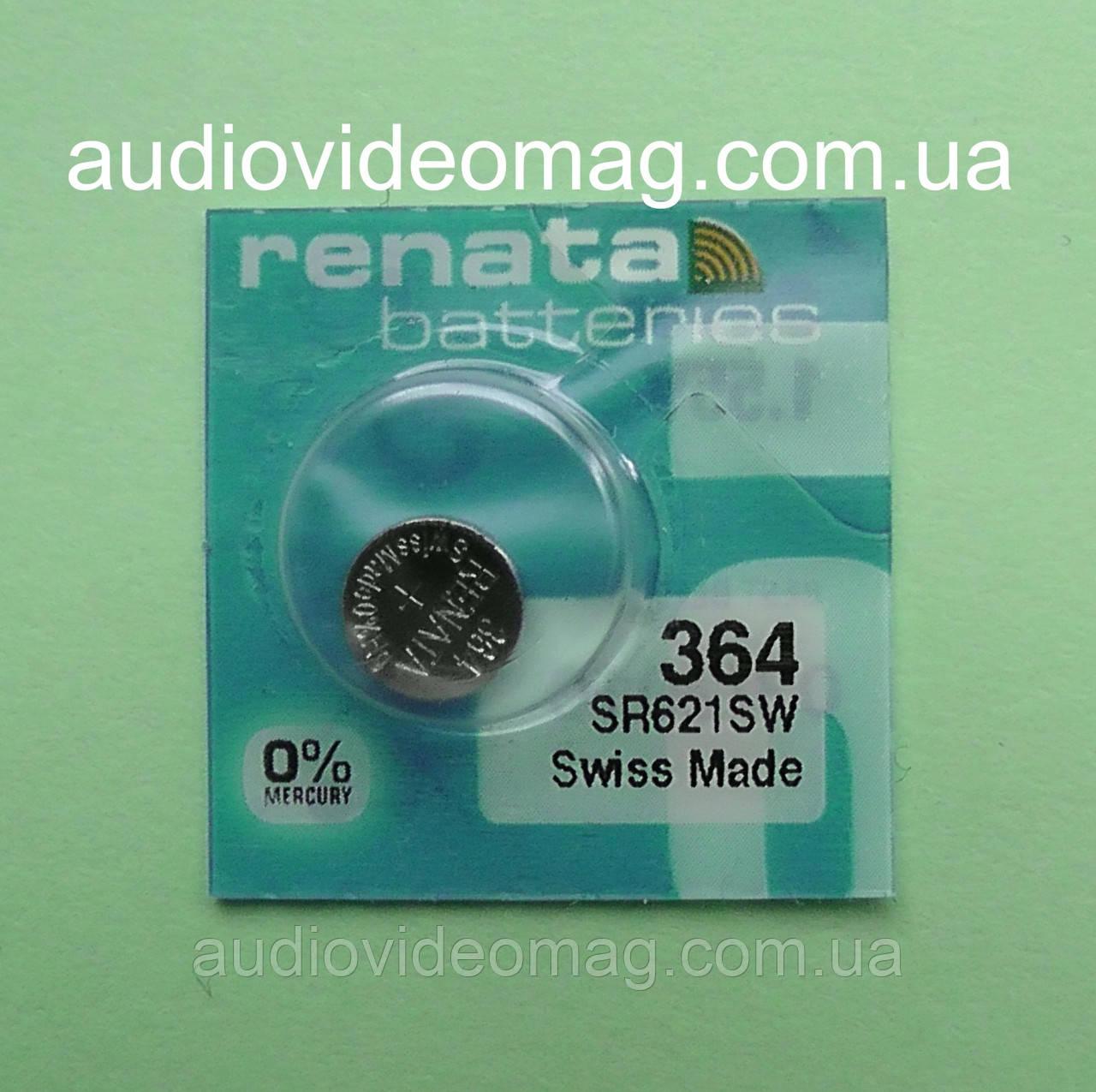 Батарейка Renata 364 (CR621SW) на оксиде серебра для часов