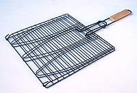 Барбекю-решетка малая плоская чёрная, фото 1