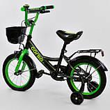 Велосипед детский двухколесный черный 14 Corso G-14996, фото 2