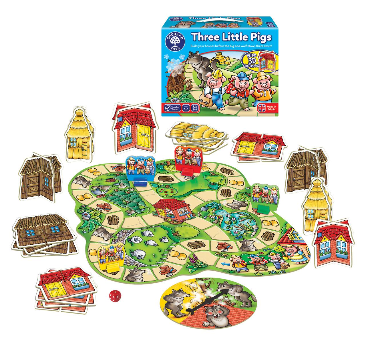 """Настольная игра для малышей """"Три поросёнка"""" Orchard Toys"""