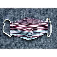 Маска детская текстильная защитная многоразовая 5 слоев ( 2 слоя ткани и 3 слоя марли ).