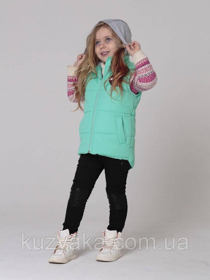 Детская жилетка для девочки 86 см