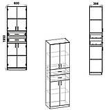 Шкаф распашной с ящиками КШ-11 Компанит, фото 10