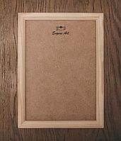 Рамка деревянная 30х30см, ширина 15мм, с ДВП, под покраску, для декора, декупаж