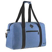 Дорожная сумка WALLABY голубая 27х46х17 ткань полиэстер A44    в 2550гол