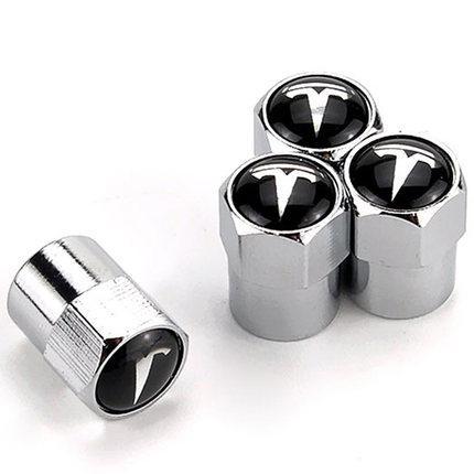 Ковпачки на ніпель коліс з емблемою Тесла