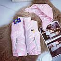 Детская розовая жилетка для девочки на рост 128-146 см, фото 2