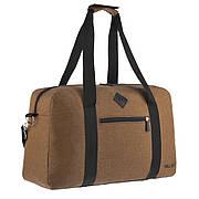 Дорожная сумка WALLABY 27х46х17 коричневая ткань полиэстер A44    в 2550кор