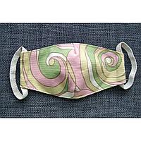 *Распродажа!!Маска детская текстильная защитная многоразовая 5 слоев ( 2 слоя ткани и 3 слоя марли ).
