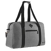 Дорожная сумка WALLABY 27х46х17 серая ткань полиэстер A44    в 2550сер