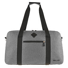 Дорожная сумка WALLABY 27х46х17 серая ткань полиэстер A44    в 2550сер, фото 2