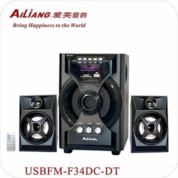 Акустическая система Ailiang USBFM-F34DC-DT с пультом ДУ