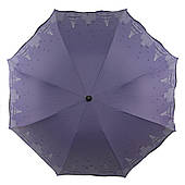 Женский симпатичный компактный прочный механический зонтик YuYing art. 1727 нежно фиолетовый (103949)