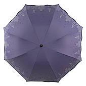Жіночий симпатичний компактний міцний механічний парасольку YuYing art. 1727 ніжно фіолетовий (103949)