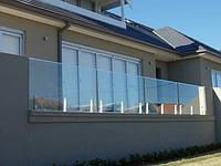 Ограждение террас из стекла