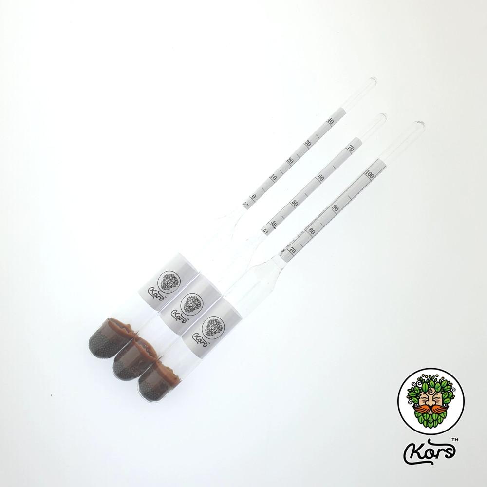 Комплект профессиональных ареометров 0-100 «Корс» ГОСТ