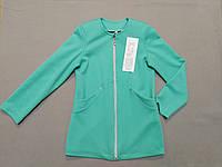 Салатовый лёгкий пиджак для девочки 140 рост, фото 1