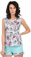 Пижама женская MODENA P007-1 L Голубой, КОД: 1584561