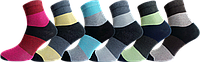 Носки хлопковые яркие женские в полоску р 36-40