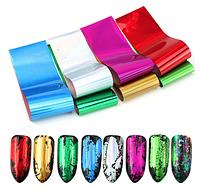 Фольга для дизайна ногтей набор 7 штук