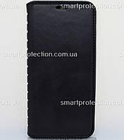 Чехол - книжка leather folio для Huawei Y5 2018 черный