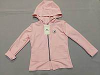 Розовый  пиджак с капюшоном  для девочки 104, 116, рост, фото 1