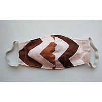 Распродажа! Маска детская  текстильная защитная многоразовая 5 слоев ( 2 слоя ткани и 3 слоя марли ).