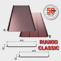 Кровельные фальцы-Ruukki Classic Premium- 0.6 мм  embossed, фальцевая кровля из Финляндии.