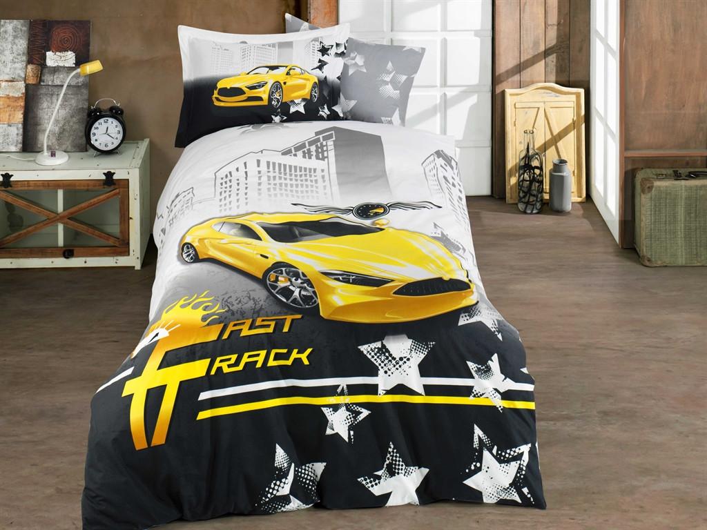 Комплект полуторный постельного белья Poplin Fast Track 160х220 (8698499144439)