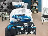 Комплект полуторный постельного белья Poplin Fast Track 160х220 (8698499144439), фото 2
