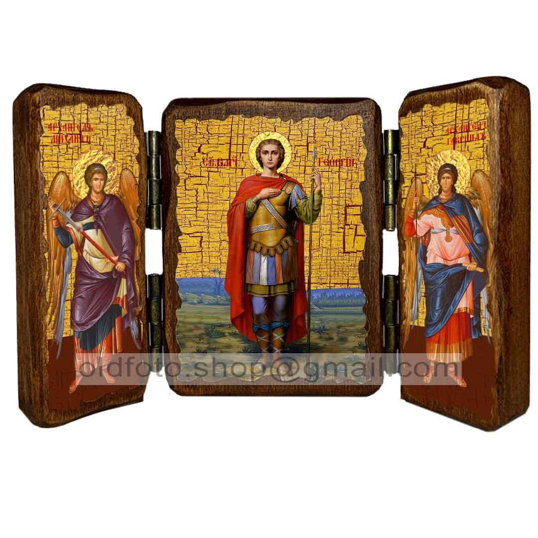 Икона Георгий Святой Великомученик Победоносец  ,икона на дереве 260х170 мм