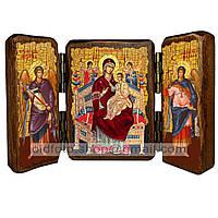 Всецарица Икона Пресвятой Богородицы  (складень тройной 140х100мм)