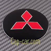 Наклейки для дисків з емблемою Mitsubishi. 56мм. ( Мітсубісі ) Ціна вказана за комплект з 4-х штук