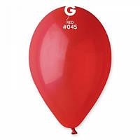Шары 26 см пастель красный №45 (10шт) (ш1,5)