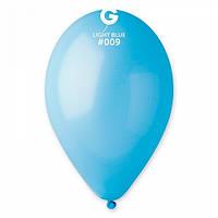 Шары 26 см пастель голубой №09 (10шт) (ш1,5)