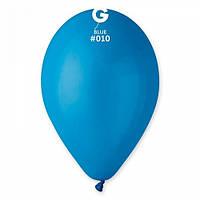 Шары 26 см пастель синий №10 (10шт) (ш1,5)
