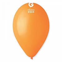 Шары 26 см пастель оранжевый №04 (10шт) (ш1,5)