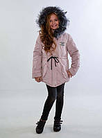 "Детская тёплая куртка-парка синтепон + овчина 3-3 ""Плащёвка Парка Мех"""