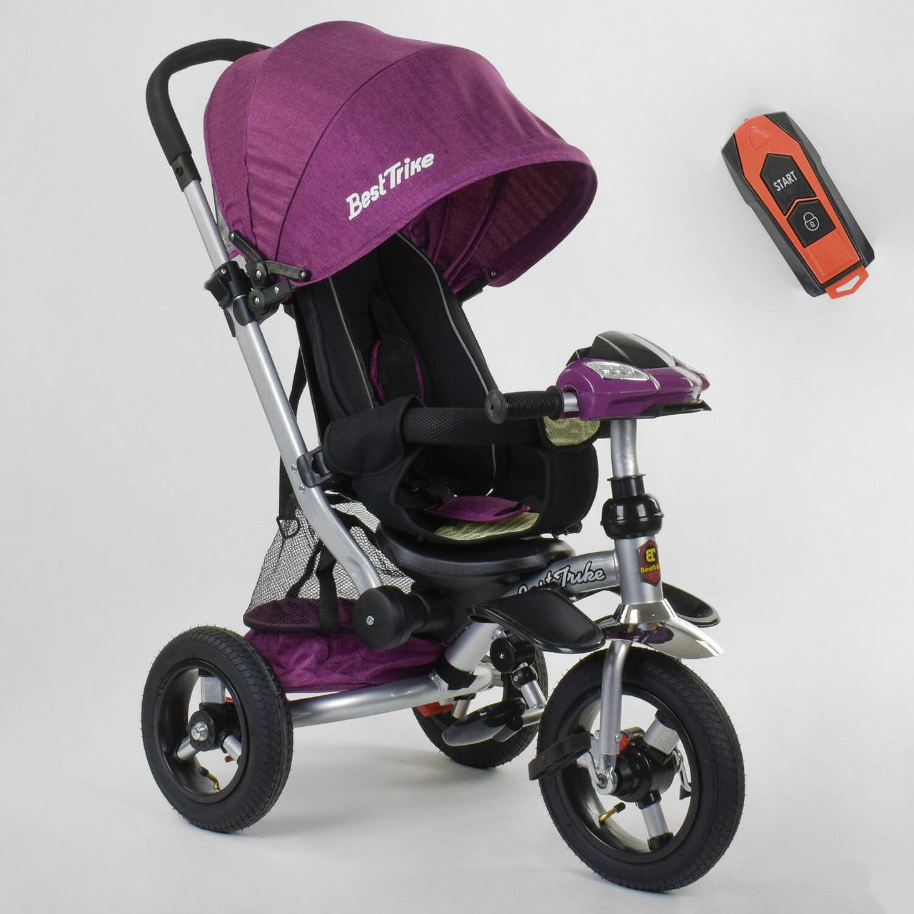 Детский 3-х велосипед Best Trike Фиолетовый велосипед для ребенка от 10мес
