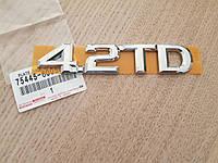 Эмблема крышки багажника Тойота 4,2TD