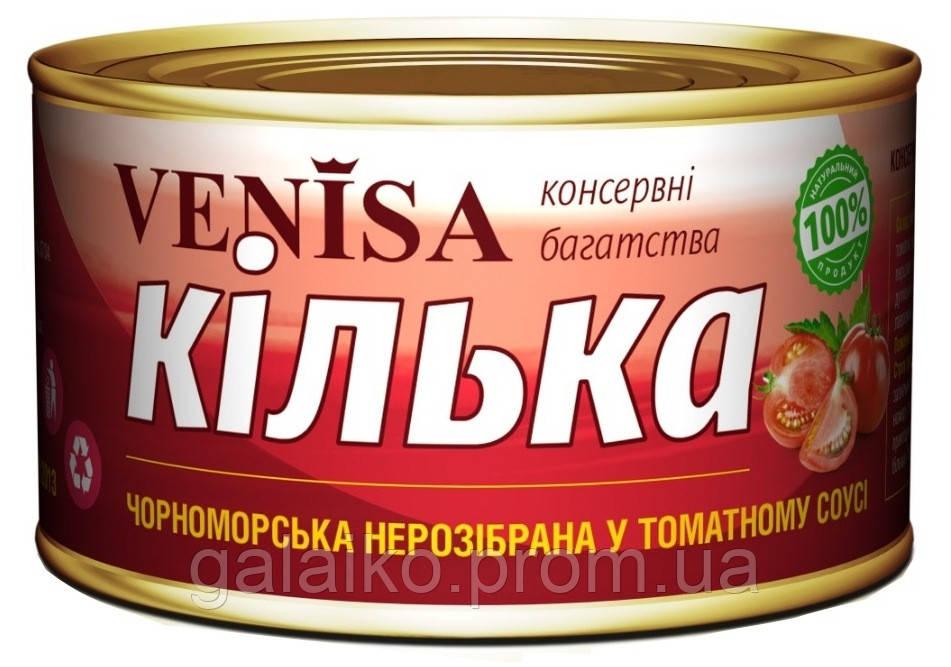 """Килька черноморская в т/с №5 """"Venisa""""240гр (48)"""