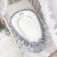 Кокон - гнездышко для новорожденных Royal серый