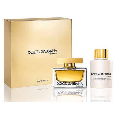 Женский подарочный набор DOLCE & GABBANA The One for Women парфюмированная вода 75ml + лосьон для тела 100ml