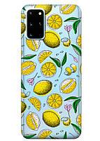 Прозрачный силиконовый чехол iSwag для Samsung Galaxy S20 Plus Лимоны M1089, КОД: 1604772