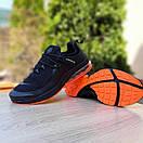 Мужские спортивные кроссовки Nike Air Presto чёрные с оранжевым Реплика хорошего качества, фото 2