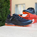 Мужские спортивные кроссовки Nike Air Presto чёрные с оранжевым Реплика хорошего качества, фото 7