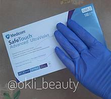 Нитриловые перчатки Medicom без пудры 50 пар (фиолетовые), размер S